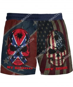 flags of the confederate states of america my home my blood beach shorts 5(1)