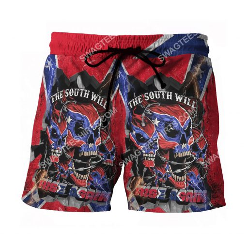 flags of the confederate states of america the south will rise again beach shorts 2(1)