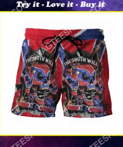 flags of the confederate states of america the south will rise again beach shorts