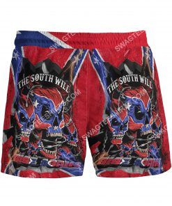 flags of the confederate states of america the south will rise again beach shorts 3(1)