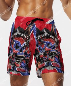flags of the confederate states of america the south will rise again beach shorts 4(1)