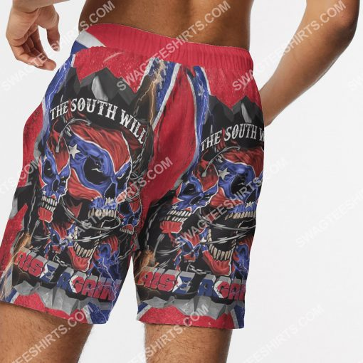 flags of the confederate states of america the south will rise again beach shorts 5(1)
