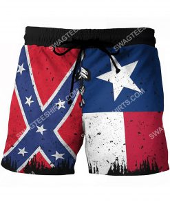 flags of the confederate states of america vintage beach shorts 2(1)