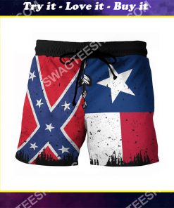 flags of the confederate states of america vintage beach shorts