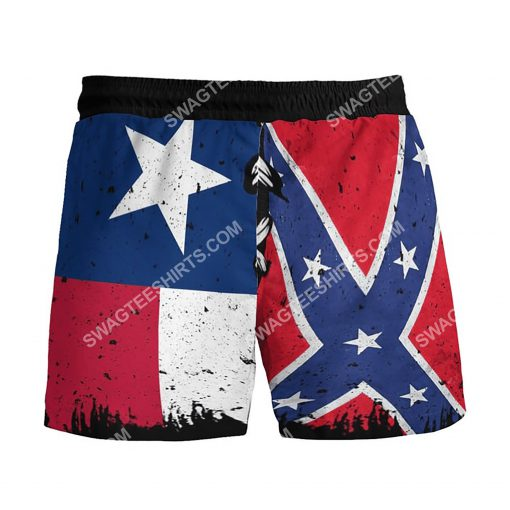 flags of the confederate states of america vintage beach shorts 3(1)
