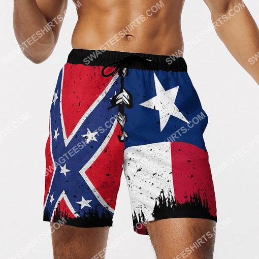flags of the confederate states of america vintage beach shorts 4(1)