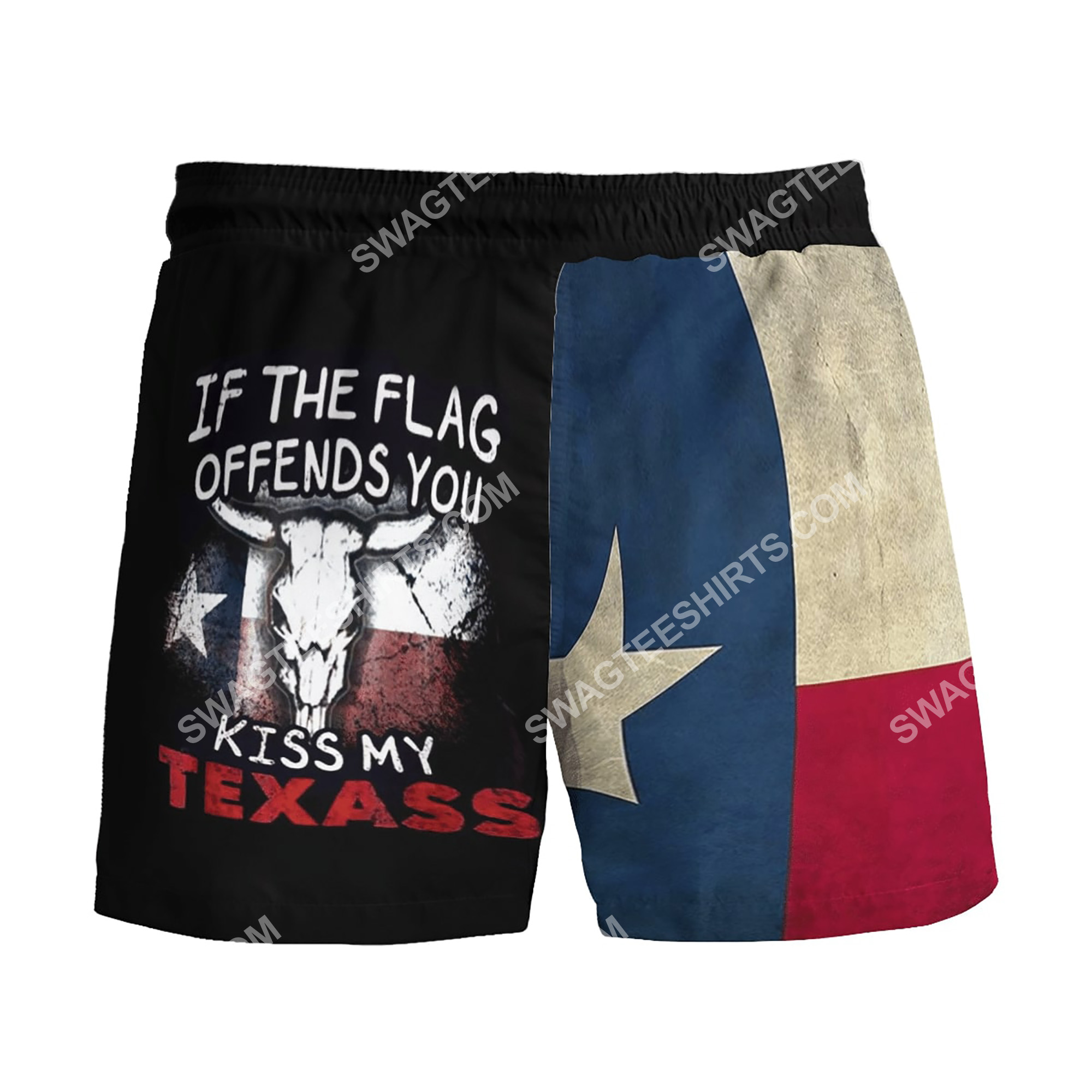 if the flag offends you kiss my texas all over printed beach shorts 3(1)