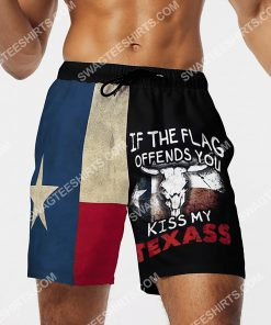if the flag offends you kiss my texas all over printed beach shorts 4(1)