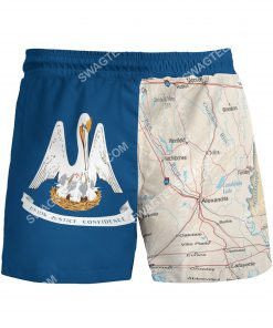 map of louisiana all over printed beach shorts 3(1)