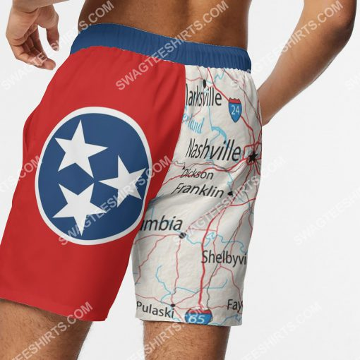 map of tennessee all over printed beach shorts 5(1)