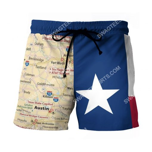 map of texas all over printed beach shorts 2(1)