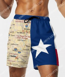 map of texas all over printed beach shorts 3(1)