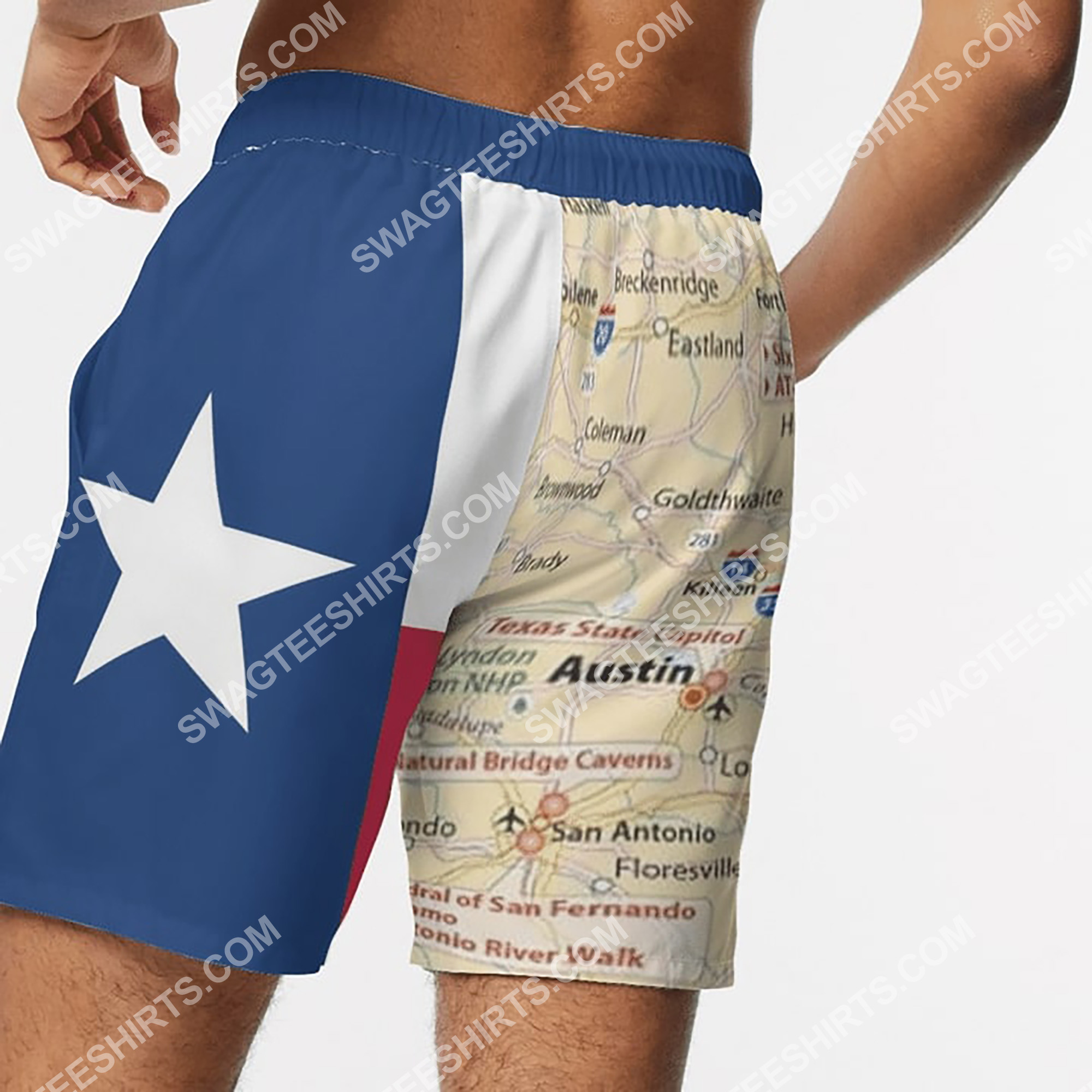 map of texas all over printed beach shorts 4(1)