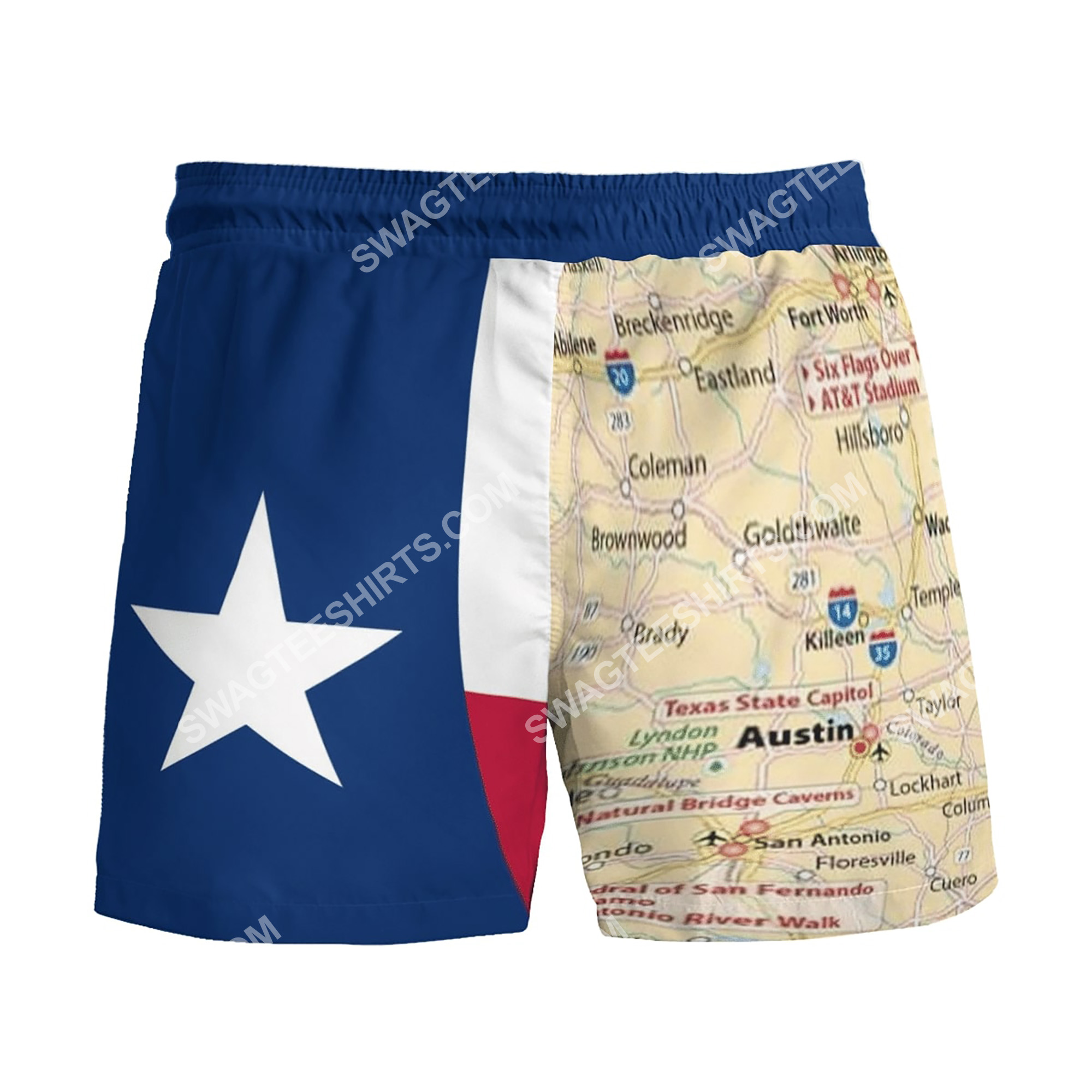 map of texas all over printed beach shorts 5(1)