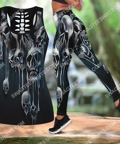 melting skull all over printed tank top and legging 2(1) - Copy