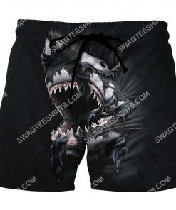 shark face all over printed hawaiian shorts 2(1)