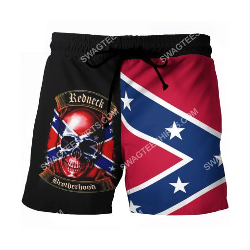 skull flags of the confederate states of america beach shorts 2(1)