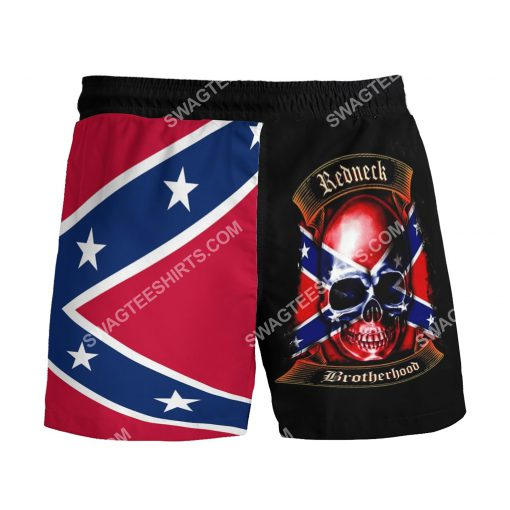 skull flags of the confederate states of america beach shorts 3(1)