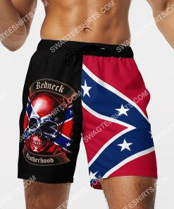 skull flags of the confederate states of america beach shorts 4(1)