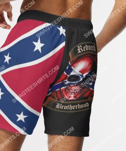 skull flags of the confederate states of america beach shorts 5(1)