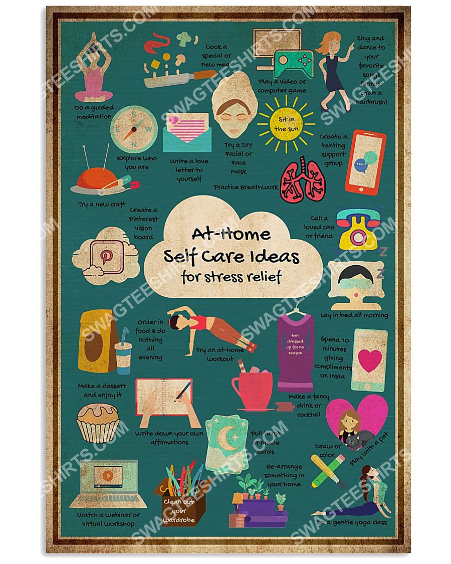 social worker at home self care for stress relief poster 1(1)