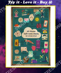 social worker at home self care for stress relief poster