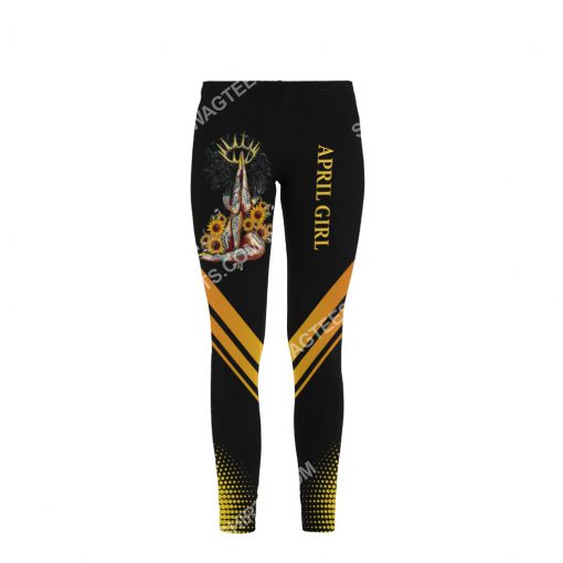 sunflower april girl make no mistake my personality is who i am all over printed legging 1