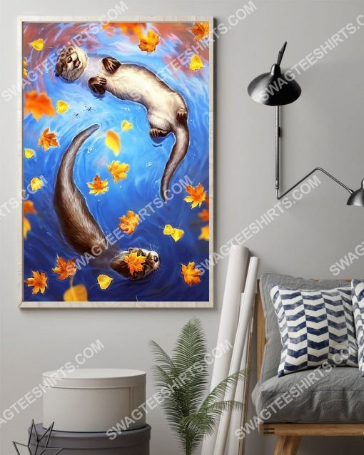 the autumn and otter wall art poster 2(1)