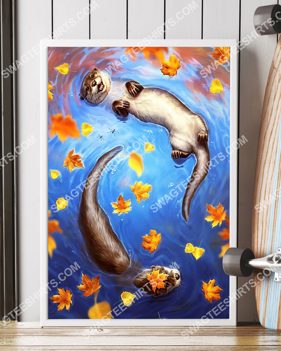 the autumn and otter wall art poster 3(1)
