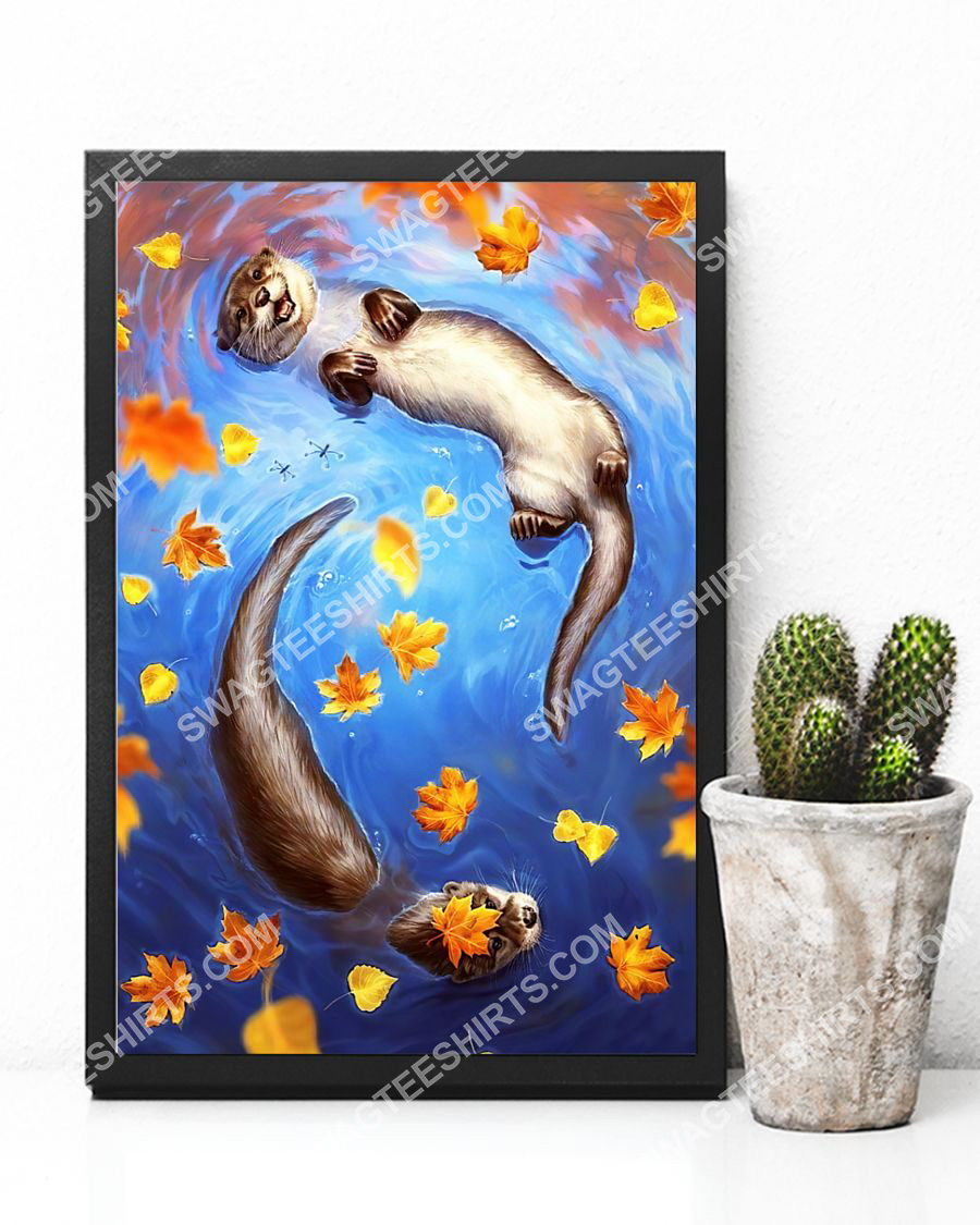 the autumn and otter wall art poster 4(1)