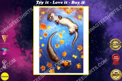 the autumn and otter wall art poster