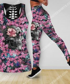 the flower and skull all over printed tank top and legging 2(1)
