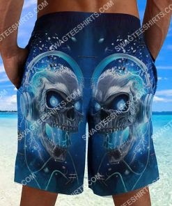 the skull with blue eyes all over printed beach shorts 3(1) - Copy
