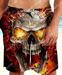 the skull with red eyes all over printed beach shorts 2(1) - Copy