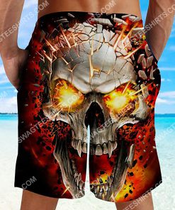 the skull with red eyes all over printed beach shorts 3(1) - Copy