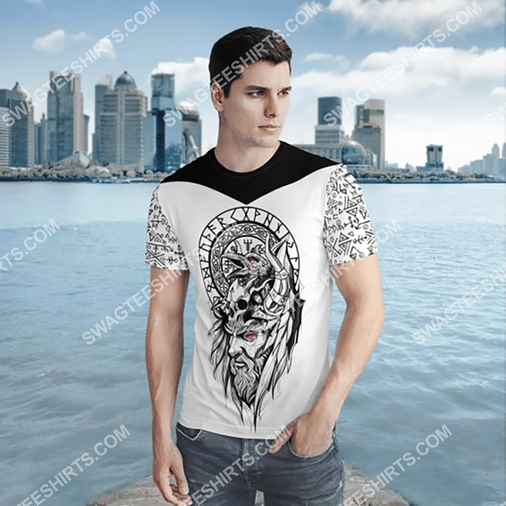 viking culture odin and raven all over printed shirt 2(1)