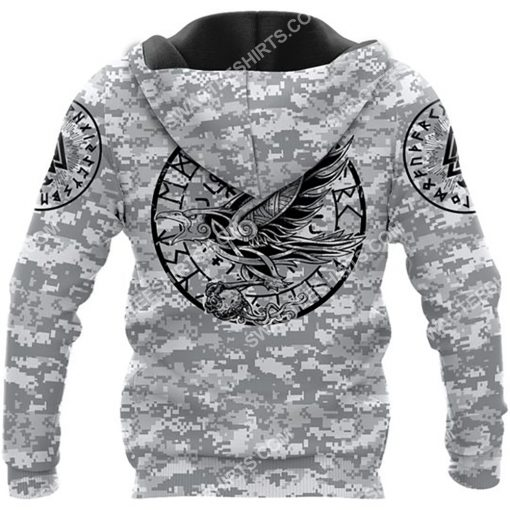 viking i don't know how my story ends but it will never say i gave up all over printed hoodie - back 1
