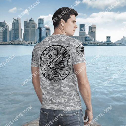 viking i don't know how my story ends but it will never say i gave up all over printed tshirt - back 1