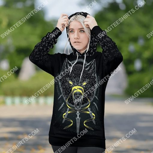 viking odin and wolf all over printed shirt 3(1)