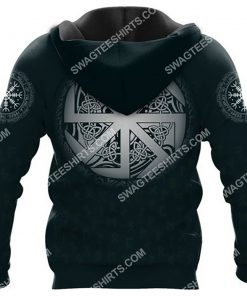 viking symbol raven valknut all over printed hoodie - back 1