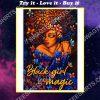 vintage black girl magic colorful poster