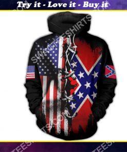 vintage confederate states of america all over printed shirt