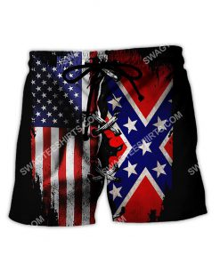 vintage confederate states of america all over printed shorts 1