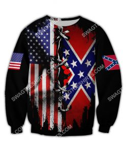 vintage confederate states of america all over printed sweatshirt 1