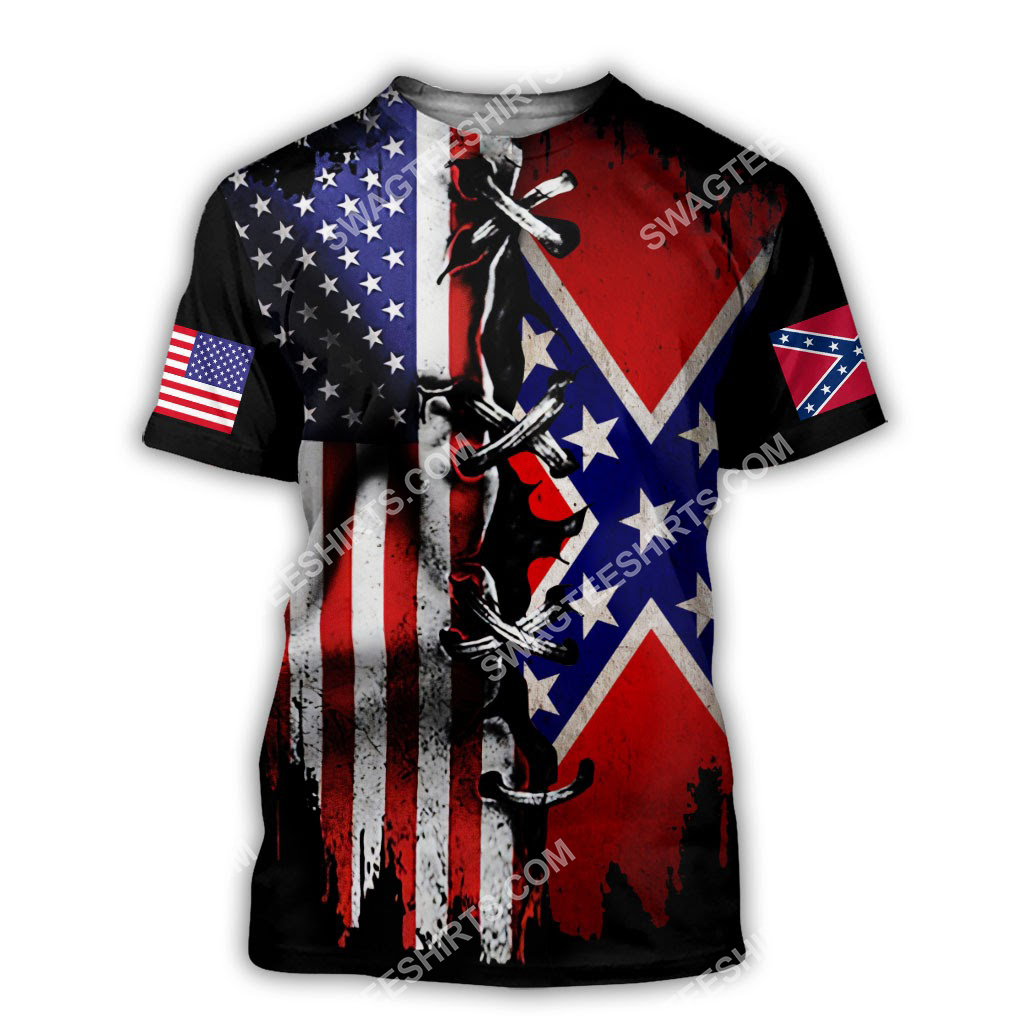 vintage confederate states of america all over printed tshirt 1