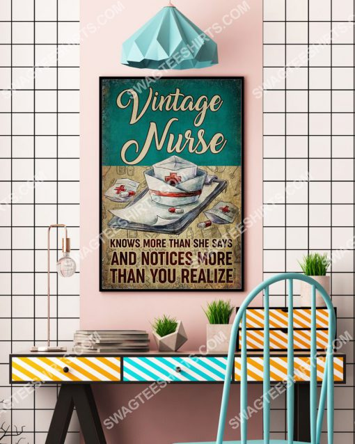 vintage nurse knows more than she says and notices more than you realize poster 4(1)