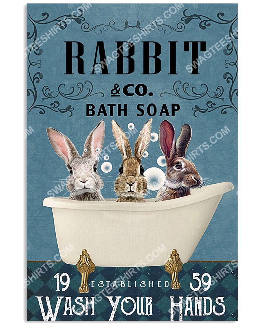 vintage rabbit bath soap wash your hands poster 1(1)