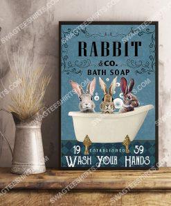 vintage rabbit bath soap wash your hands poster 2(1)