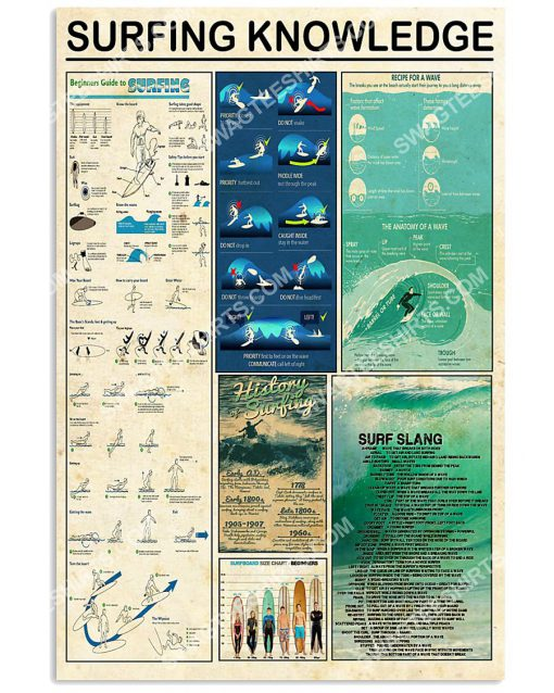 vintage surfing knowledge wall art poster 1(1)