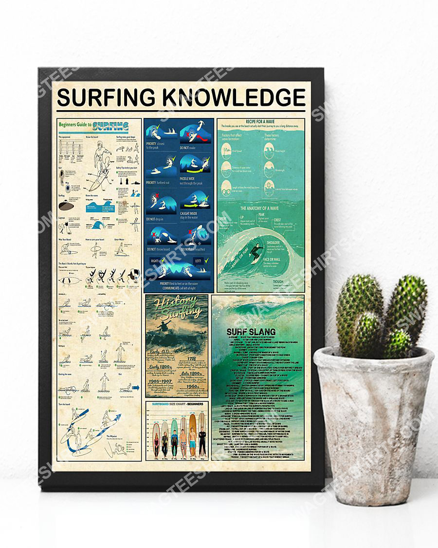 vintage surfing knowledge wall art poster 2(1)